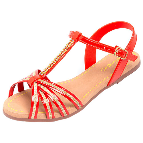 sandália feminina rasteira rasteirinha adulto salto baixo x