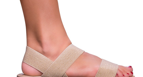 sandalia feminina rasteira rasteirinha  elastico edg