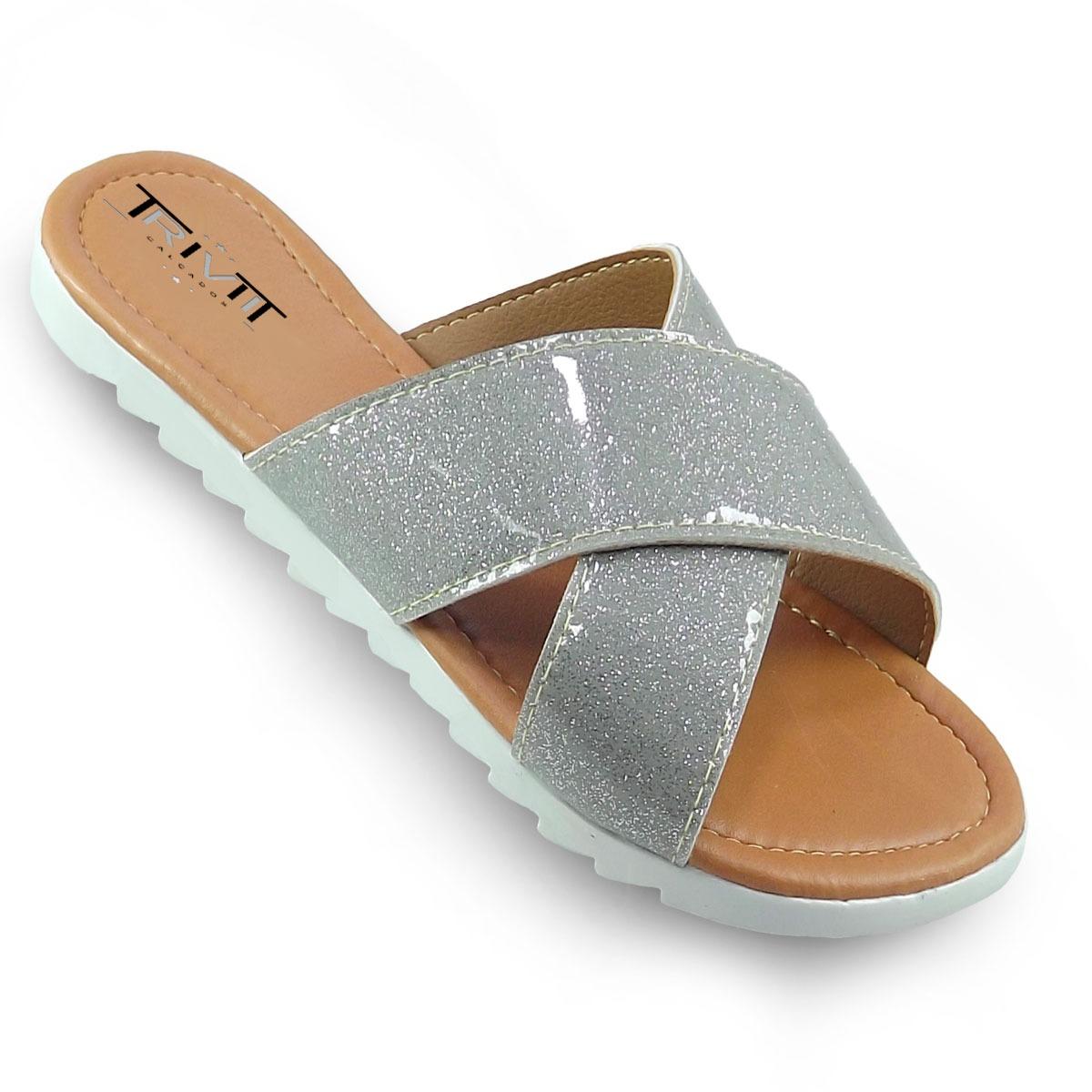 88e74e57a8 sandalia feminina rasteira rasteirinha tratorada da moda. Carregando zoom.