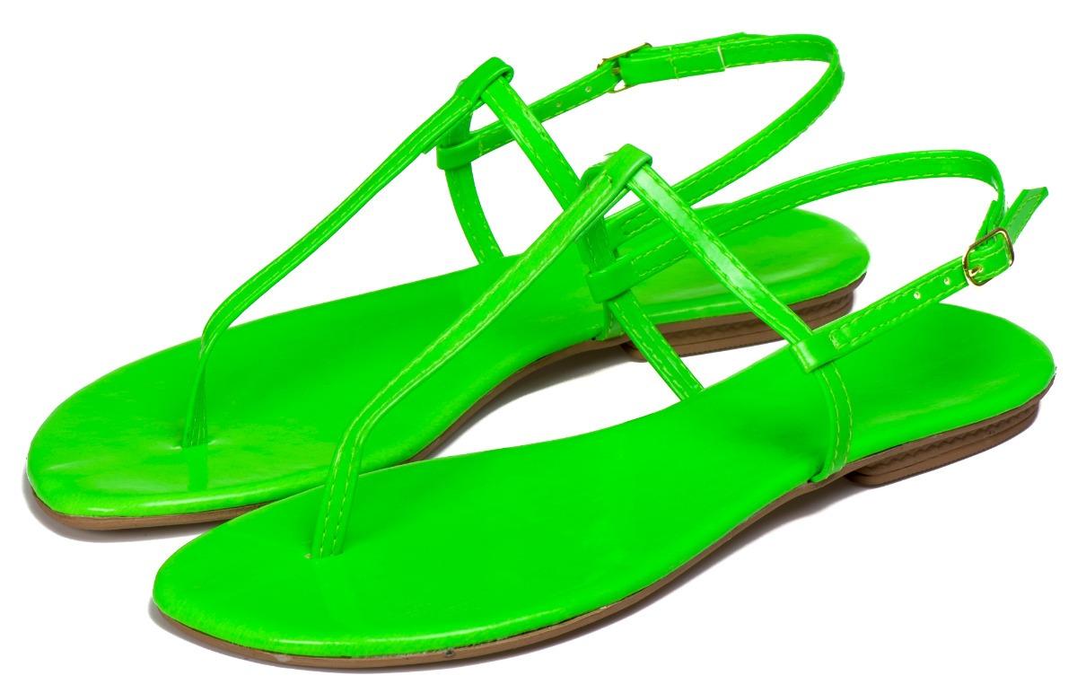 a4aa3dec96 sandalia feminina rasteira rasterinha neon verde. Carregando zoom.