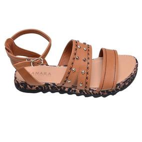 a65356507 Sandalia Rasteira Couro Pelica Com Feminino Gladiadoras - Sapatos no ...