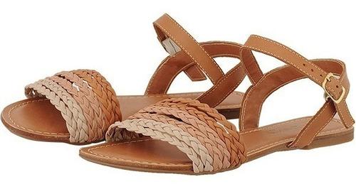 sandália feminina rasteira trança couro conforto 41 42 43