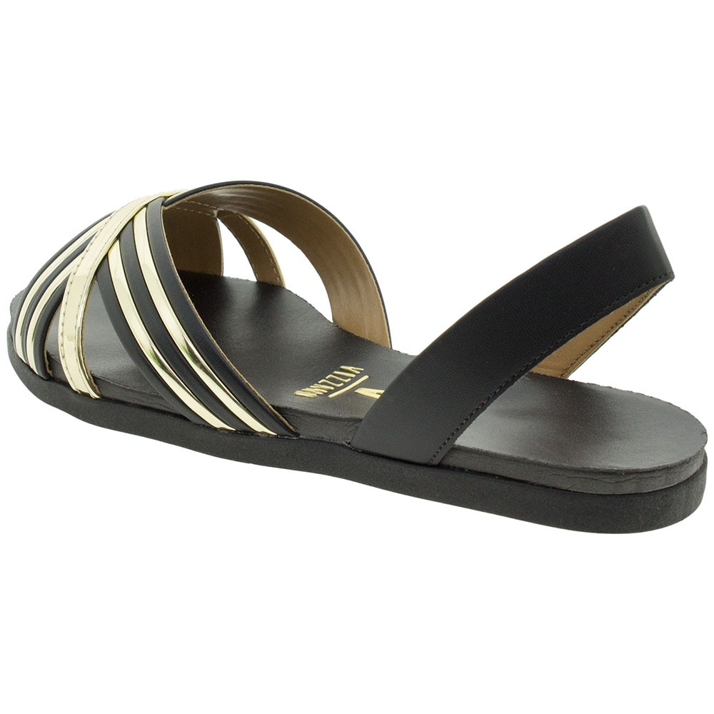 6cedd2e38 sandália feminina rasteira vizzano - 6352115 preto. Carregando zoom.