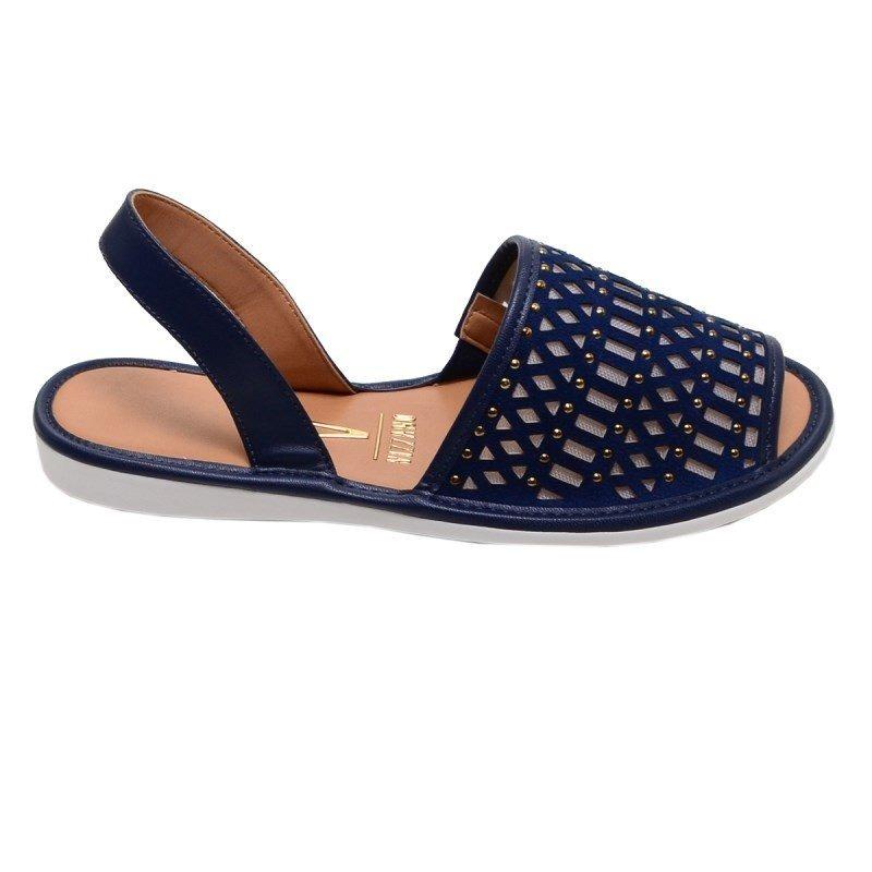 de6137e26 Sandália feminina rasteira vizzano azul marinho carregando zoom jpg 800x800 Sandalia  feminina azul marinho