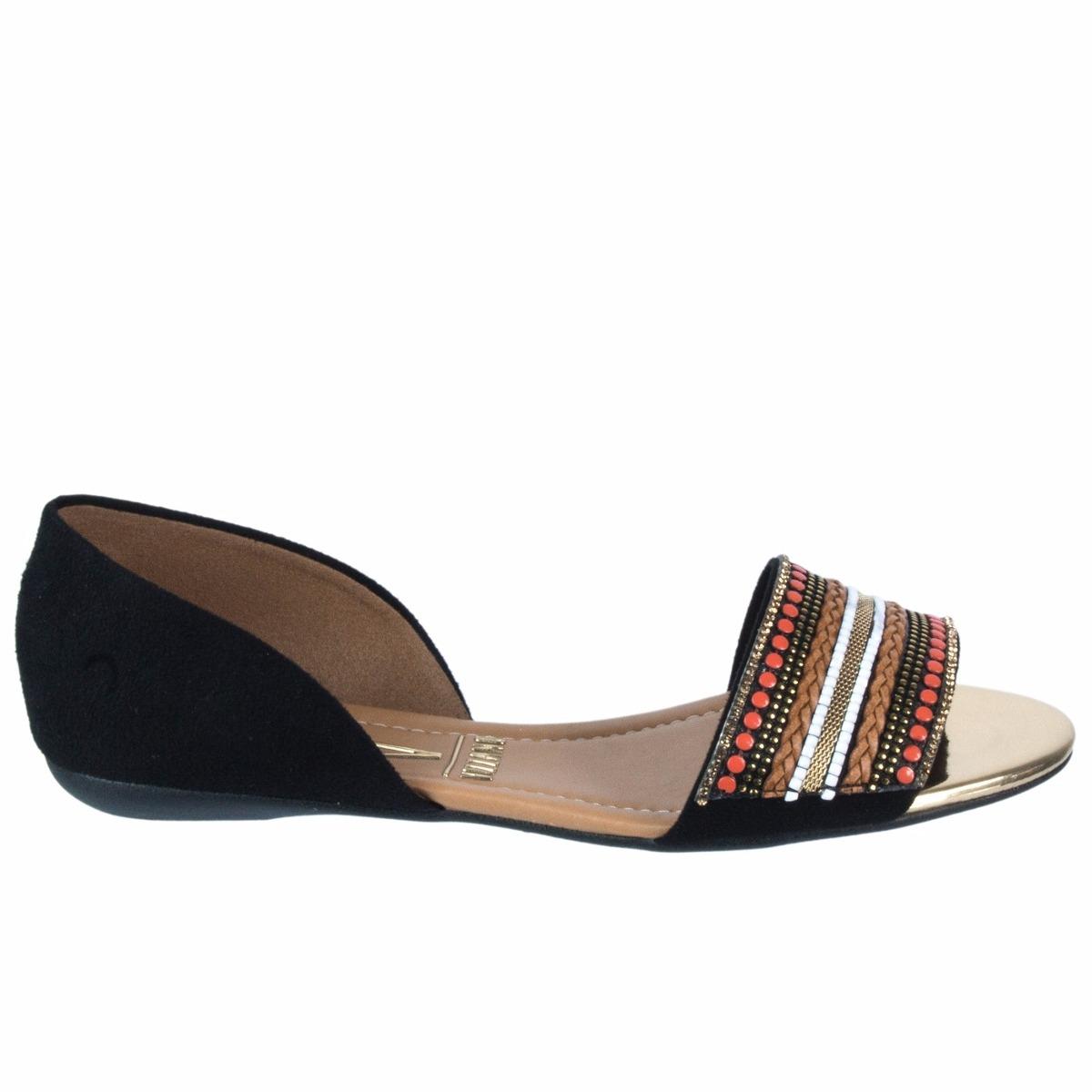 81849af622 sandália feminina rasteira vizzano camurça flex 1834.106. Carregando zoom.