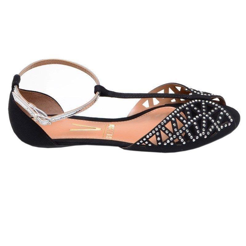 40610a4634 Sandália feminina rasteira vizzano preta com strass carregando zoom jpg  800x800 Vizzano sandalia rasteira feminina