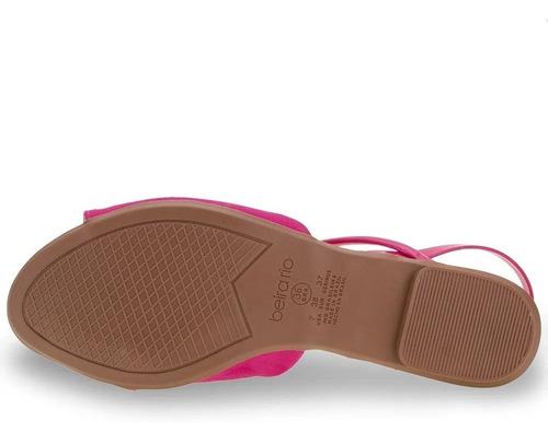 sandália feminina rasteirinha camurça rosa pink beira rio