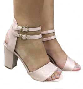 b5842caf2 Sandalia Salto Grosso Rose - Sandálias para Feminino no Mercado Livre Brasil