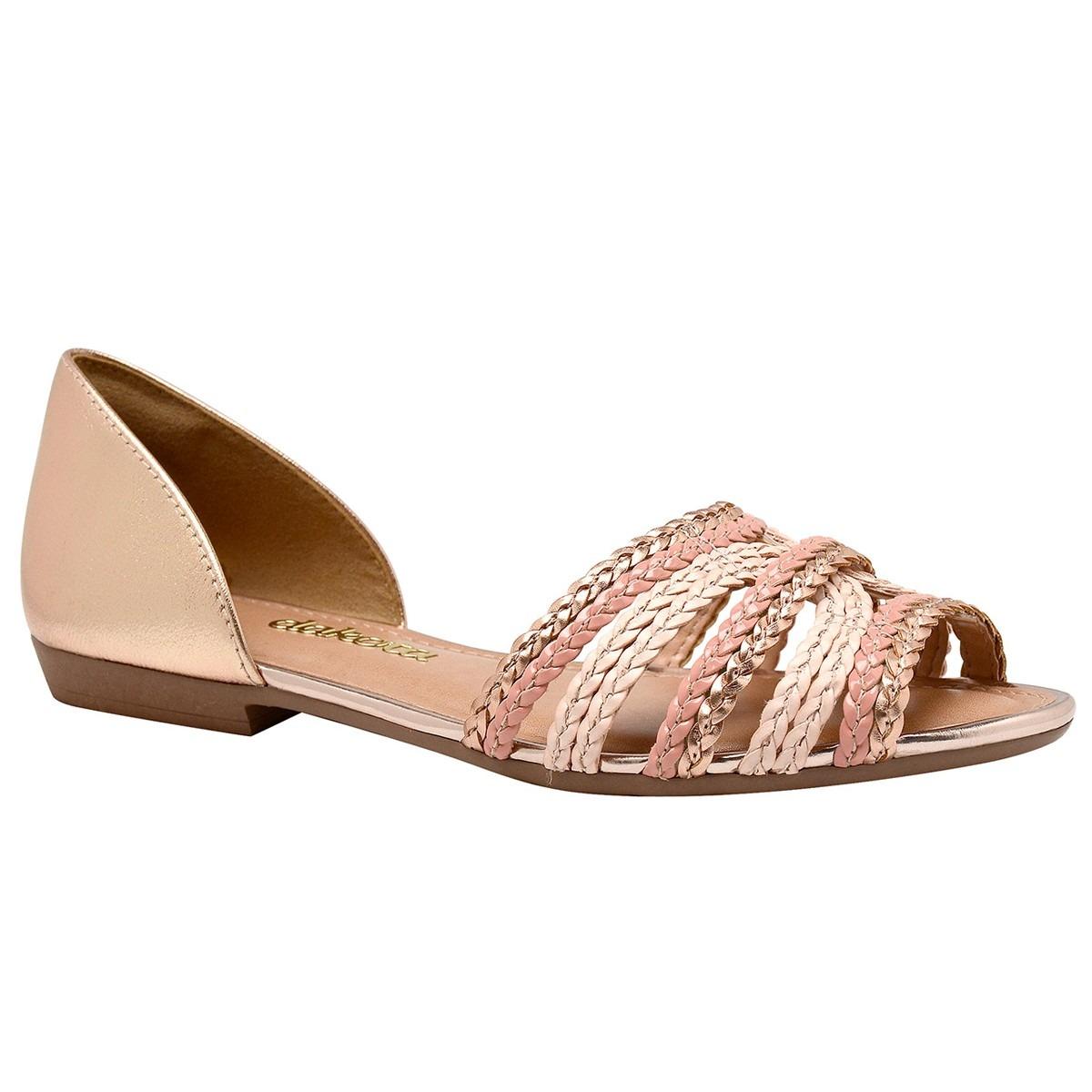 f1da6bcfc0 sandália feminina rosê nude dakota tiras trançada. Carregando zoom.