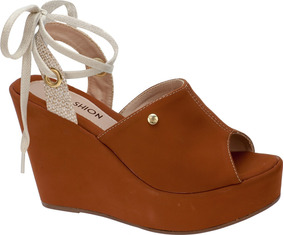 843738da81 Sandalia Anabela Amarracao Feminino - Sapatos no Mercado Livre Brasil