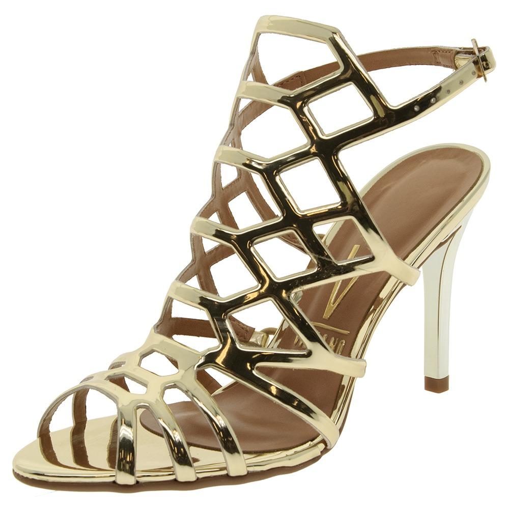 d7f85e992 sandália feminina salto alto dourada vizzano - 6309300. Carregando zoom.