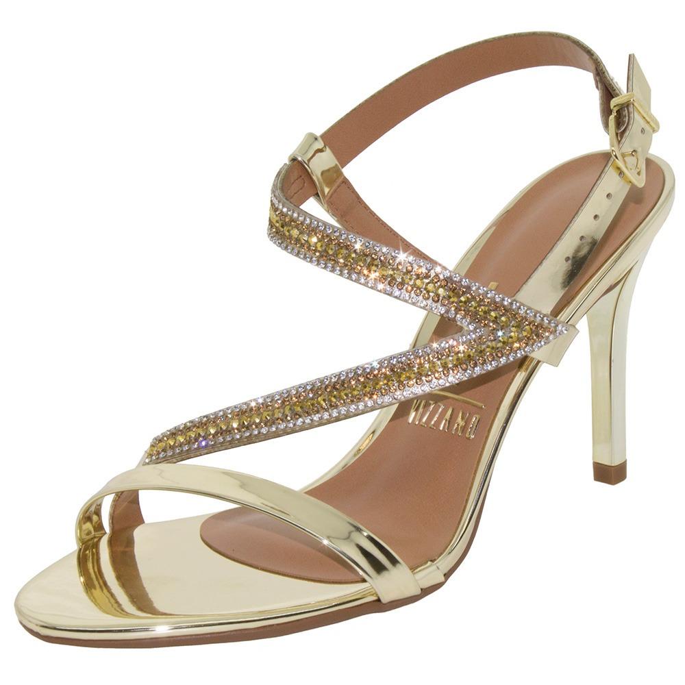 ae31971e4 sandália feminina salto alto dourada vizzano - 6323100. Carregando zoom.