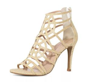 f65f59e74 Sandalia Gladiadora Salto Dourada Feminino - Sapatos no Mercado Livre Brasil
