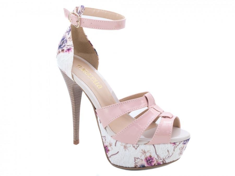 6f9d46ffdf sandália feminina salto alto fino meia pata festas rosa. Carregando zoom.