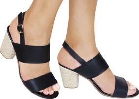 4ef389bf4a Sapato Democrata Flex Gel Em Sandalias Salto Agulha Feminino no Mercado  Livre Brasil