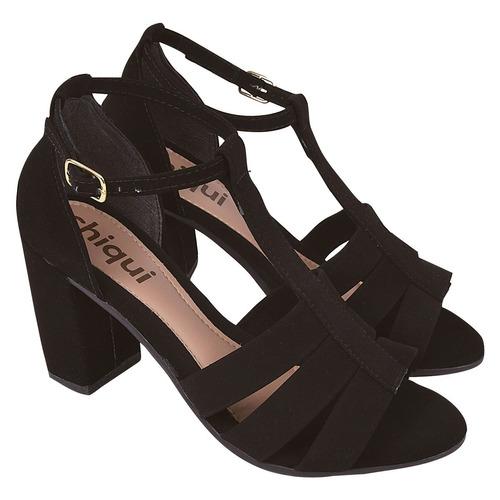 sandalia feminina salto alto grosso moda 2019 festa yrt21
