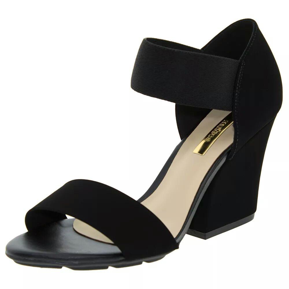 ba40a79b36 sandália feminina salto alto grosso preta moleca - 5222323. Carregando zoom.