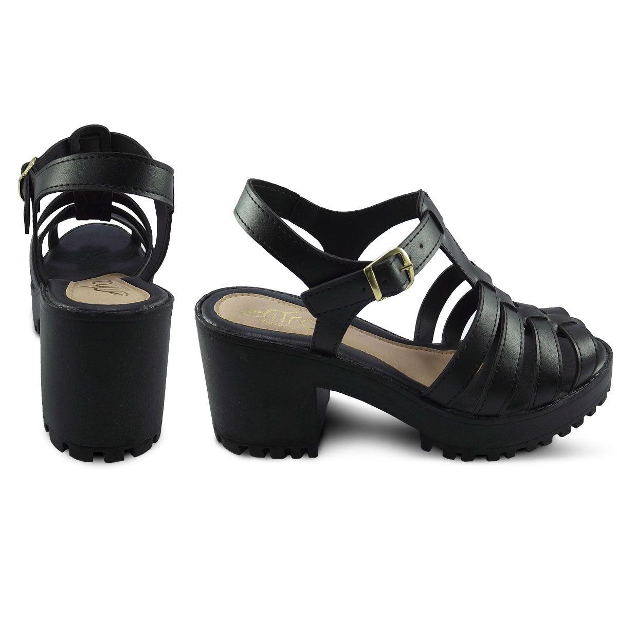 e4b64e3530 sandalia feminina salto alto grosso tratorada platafoma 18. Carregando zoom.