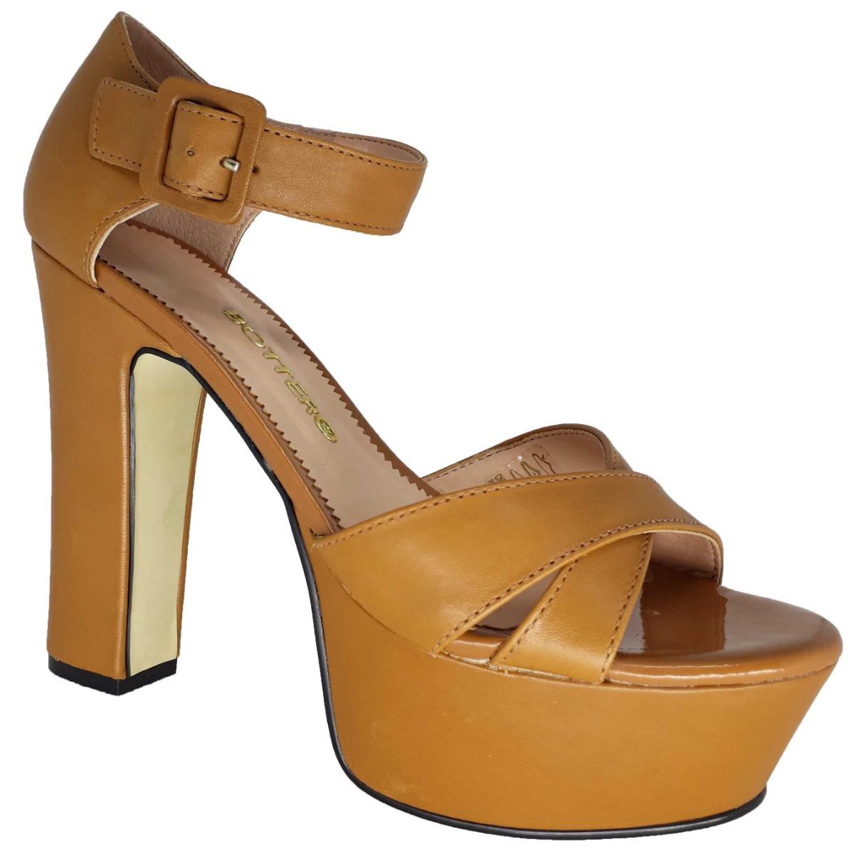 d2c65e80a0 sandalia feminina salto alto meia pata couro bottero 36% off. Carregando  zoom.