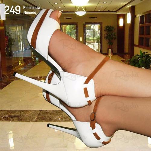 sandalia feminina salto alto meia pata f - estilo importadas