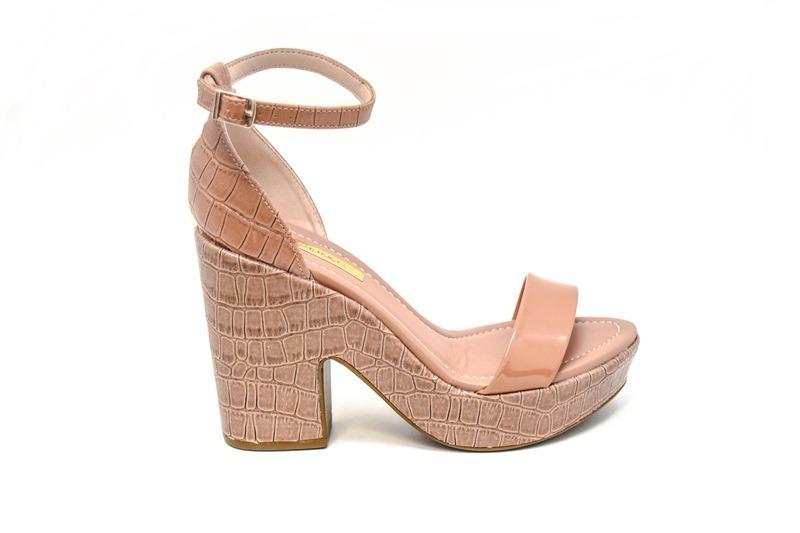 d4b59f8721 sandália feminina salto alto moleca - lojas pires. Carregando zoom.