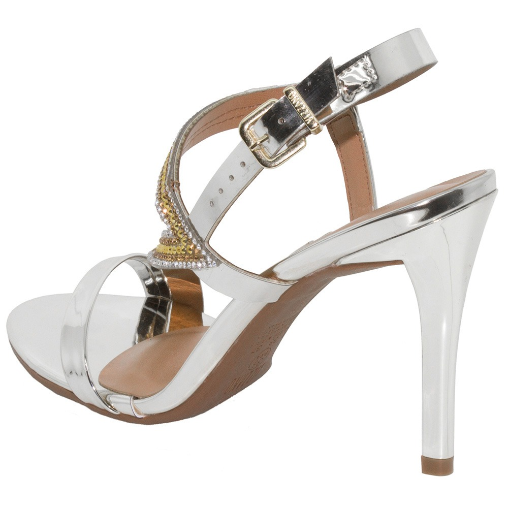 88a57507c sandália feminina salto alto prata vizzano - 6323100. Carregando zoom.