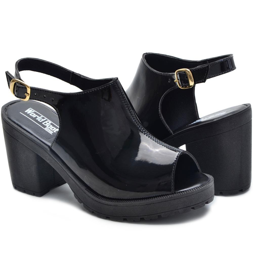 2b655e6c7 sandalia feminina salto alto preta bota tenis super promoçao. Carregando  zoom.