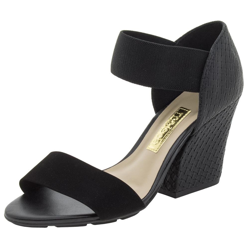c52af52826 sandália feminina salto alto preta moleca - 5222123. Carregando zoom.