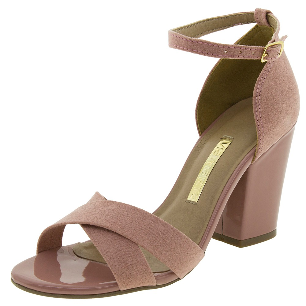 5e7598336a sandália feminina salto alto rosa via marte - 169308. Carregando zoom.