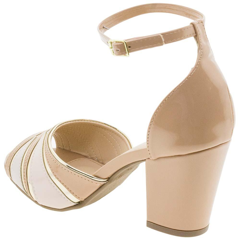 89e23ad48 sandália feminina salto alto via scarpa - 1001108 bege. Carregando zoom.