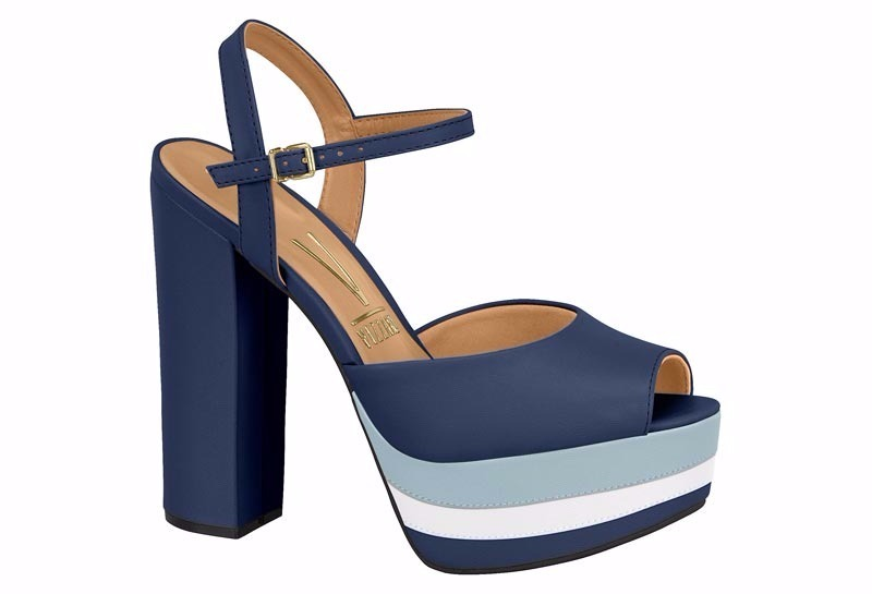 6580ac0d7 Sandália feminina salto alto vizzano azul carregando zoom jpg 800x545 Sandalia  feminina azul marinho