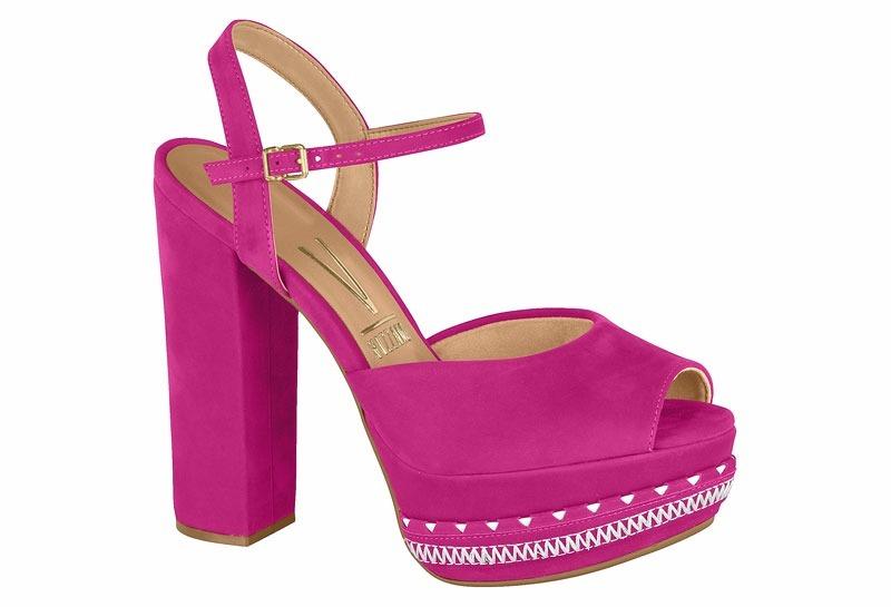 f07af37f71 sandália feminina salto alto vizzano rosa frete gratis 12x. Carregando zoom.
