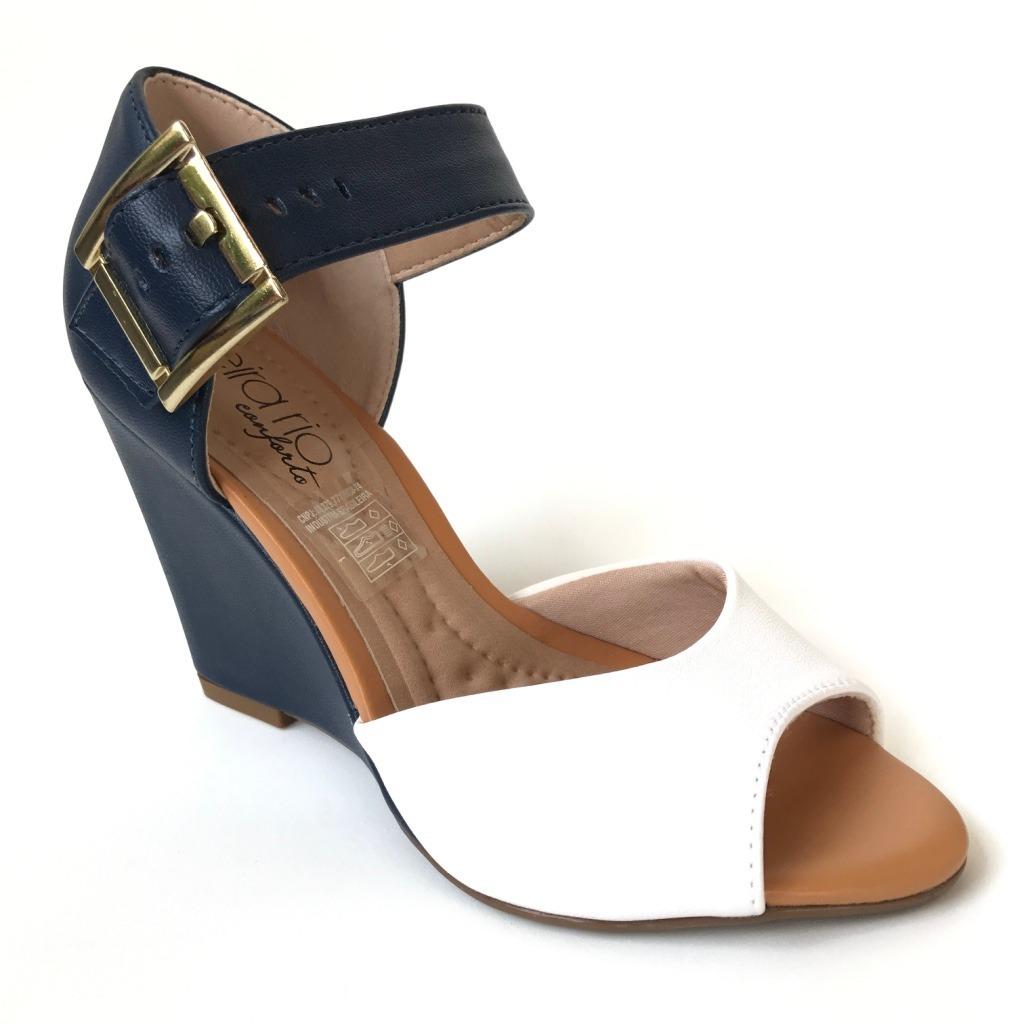 36f774f2fa sandália feminina salto anabela beira rio conforto clique+. Carregando zoom.