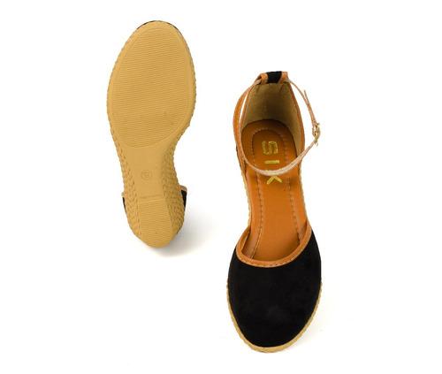 sandalia feminina salto anabela espadrile sapatteria
