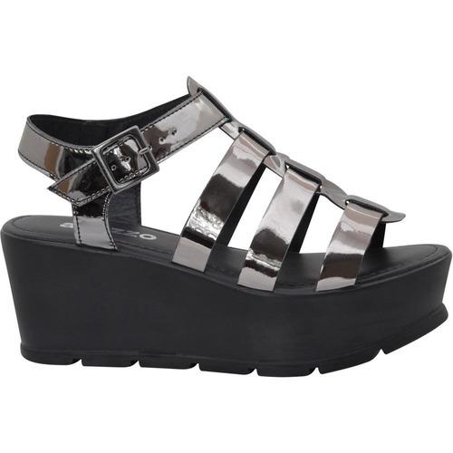 sandália feminina salto anabela gladiadora onix
