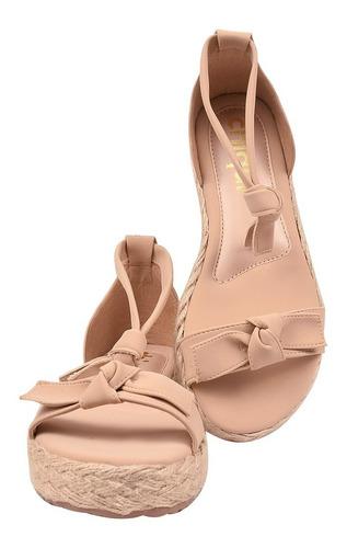 sandália feminina salto anabela rasteira plataforma bra12