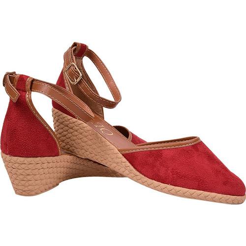 sandalia feminina salto anabela sapatilha espadrile 1247813