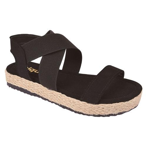 sandalia feminina salto anabela tratorada flatform jln91