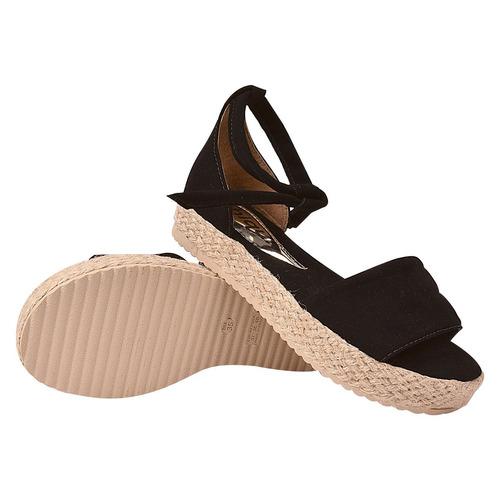 sandalia feminina salto anabela tratorada plataforma srg141