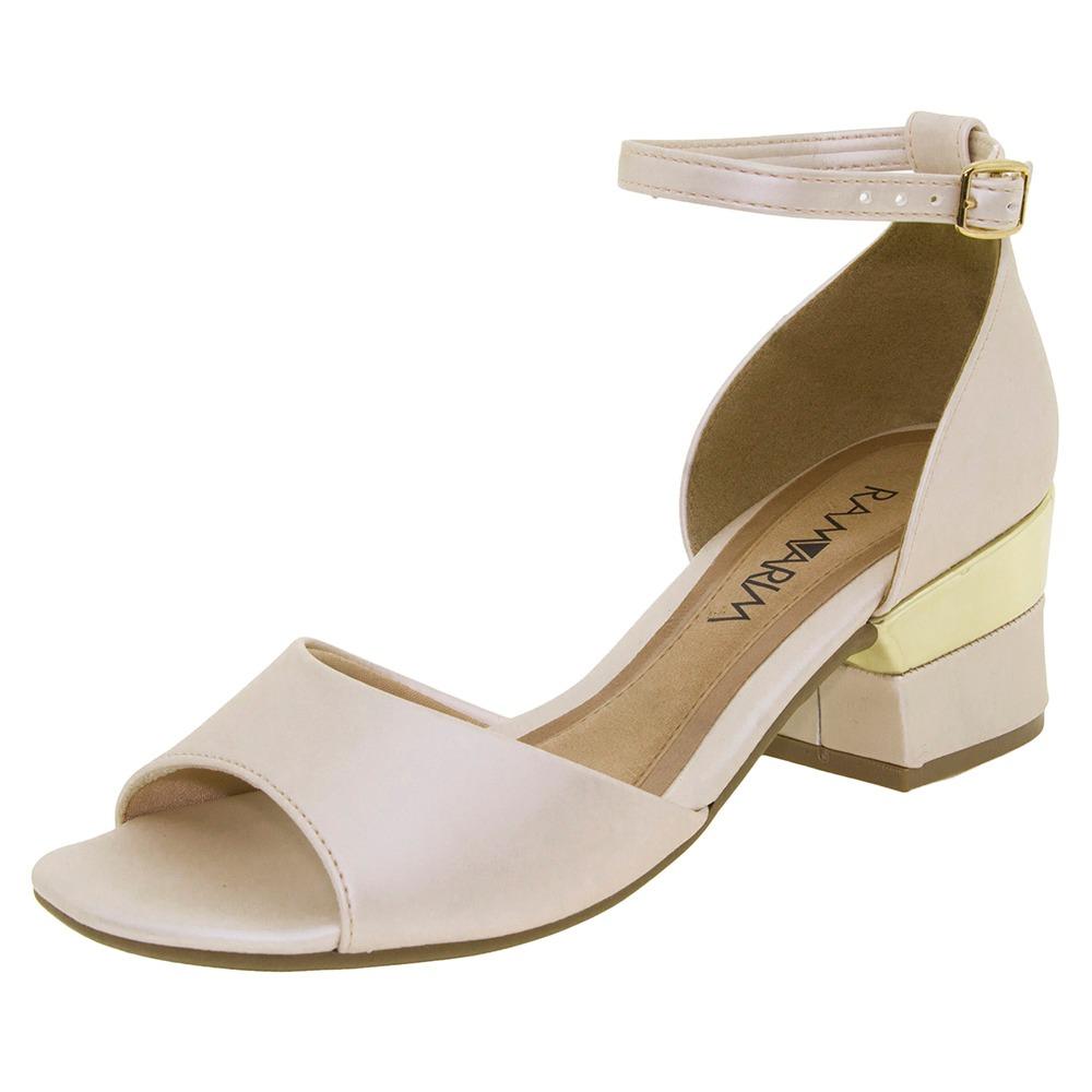 ff3d0c88fe sandália feminina salto baixo branco/off ramarim - 1733206. Carregando zoom.