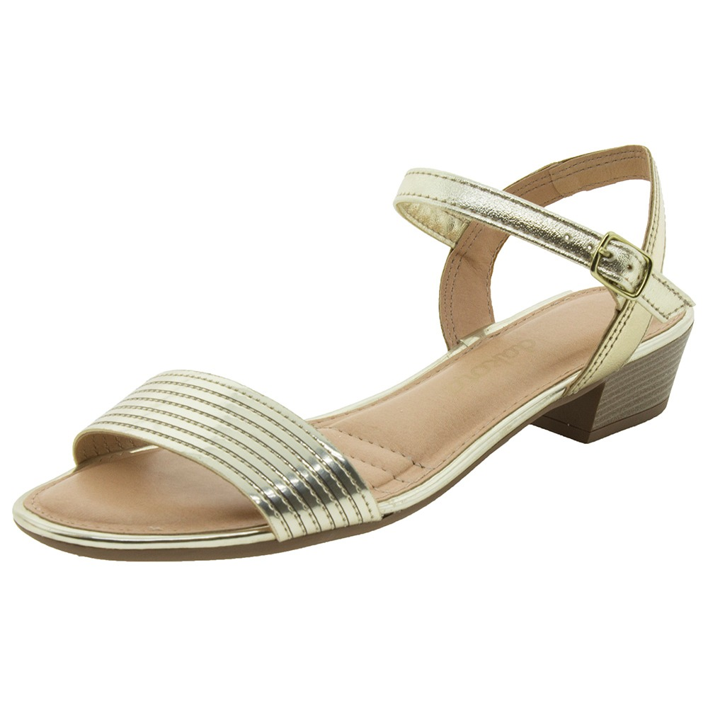 4cf076125 sandália feminina salto baixo dourada dakota - z1802. Carregando zoom.
