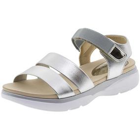 689491ddc Sandalia Prata Salto Medio Clovis Feminino - Sapatos com o Melhores Preços  no Mercado Livre Brasil