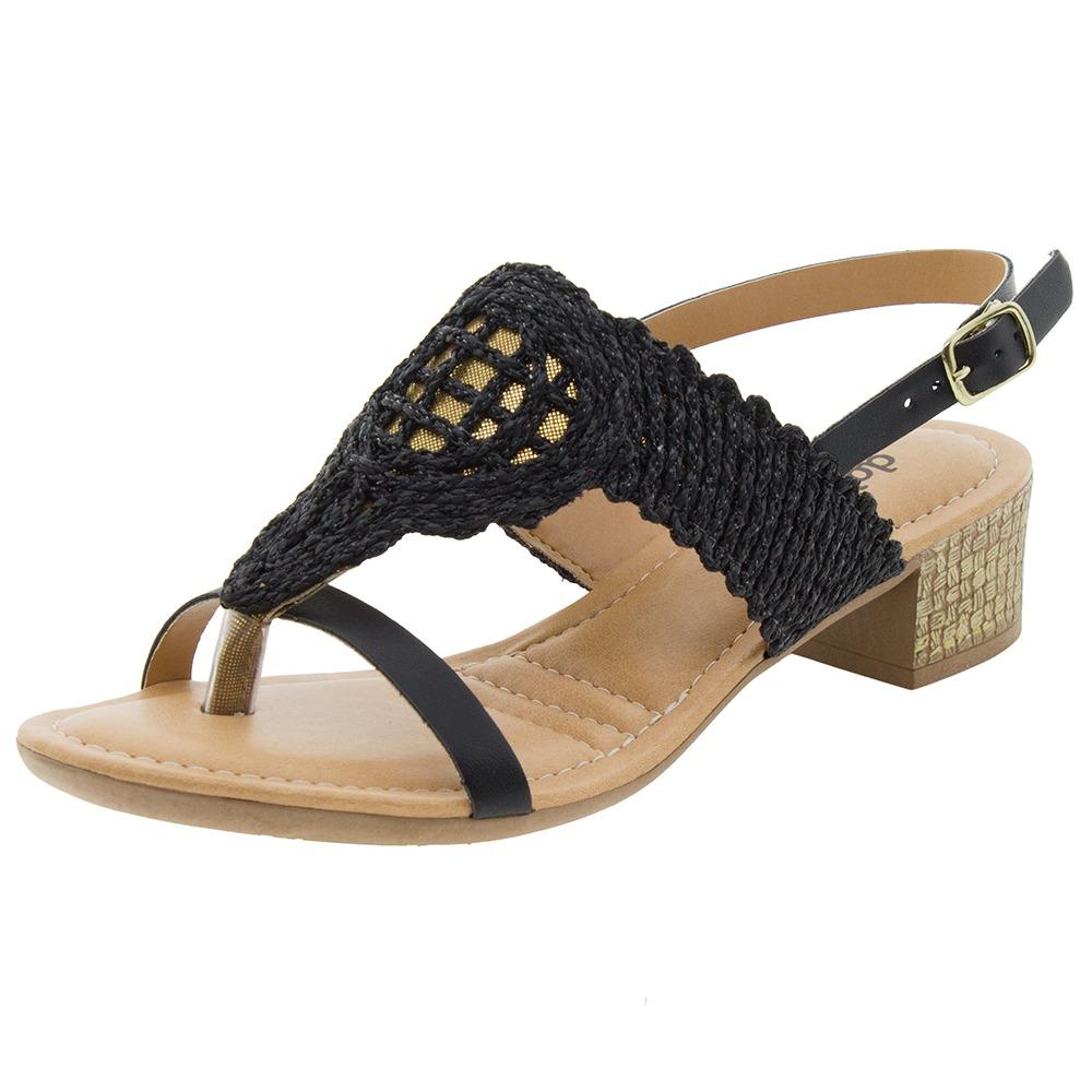 15fdf5530 sandália feminina salto baixo preta dakota - z1092. Carregando zoom.