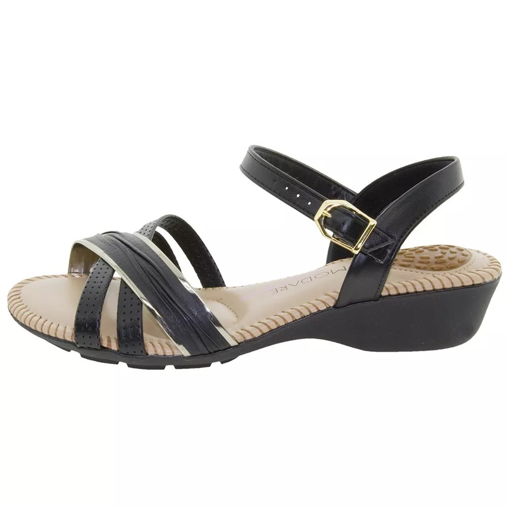 4f8beca0fb sandália feminina salto baixo preta modare - super conforto. Carregando zoom .
