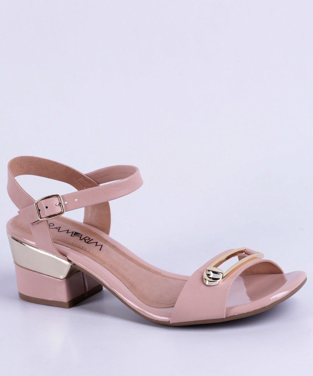 5645a3dc9a sandália feminina salto baixo ramarim 1733202 - original. Carregando zoom.