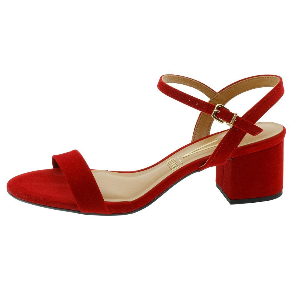 658b9f6e5 sandália feminina salto baixo vermelha vizzano - 6291125. Carregando zoom.