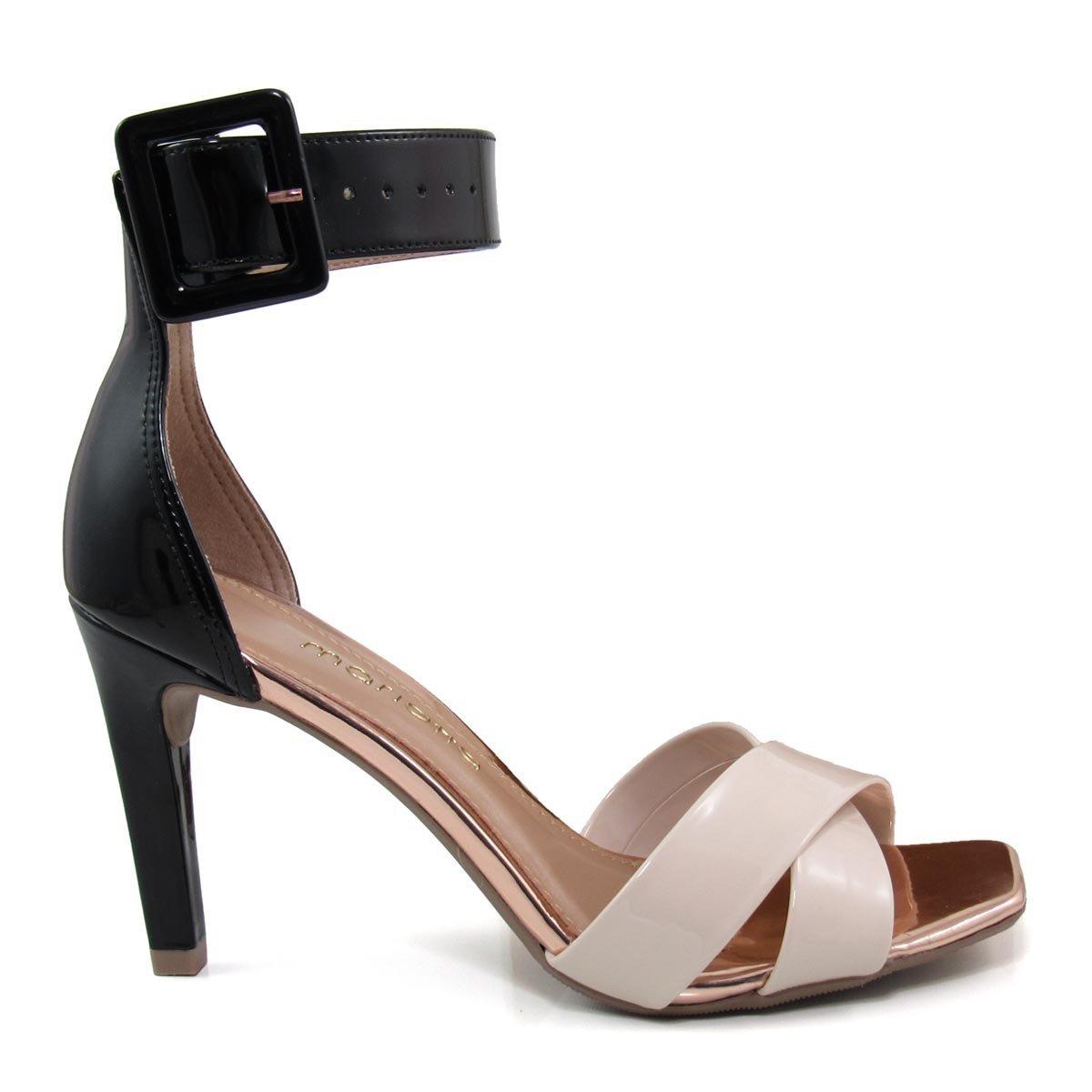 492ae2cedd sandália feminina salto fino mariotta 18110-06 verniz. Carregando zoom.
