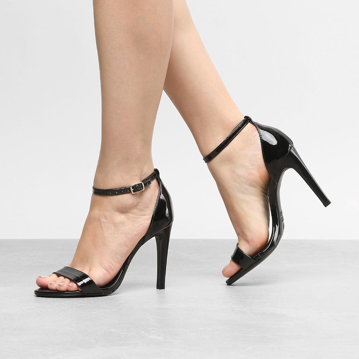 bd101c1552 sandalia feminina salto fino tira transparente 1909845. Carregando zoom.