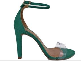 2a06613592 Sandalias De Salto Fino Verde - Sapatos no Mercado Livre Brasil