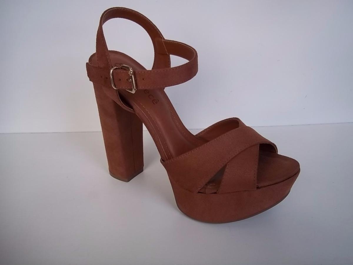 156f9e4eef sandália feminina salto grosso meia pata bebecê. Carregando zoom.